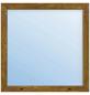 Meeth Fenster »77/3 MD«, Gesamtbreite x Gesamthöhe: 130 x 40 cm, Glassstärke: 33 mm, weiß/golden oak-Thumbnail