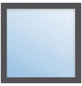Meeth Fenster »77/3 MD«, Gesamtbreite x Gesamthöhe: 130 x 40 cm, Glassstärke: 33 mm, weiß/titan-Thumbnail