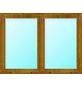 Meeth Fenster »77/3 MD«, Gesamtbreite x Gesamthöhe: 130 x 50 cm, Glassstärke: 33 mm, weiß/golden oak-Thumbnail