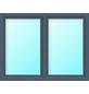 Meeth Fenster »77/3 MD«, Gesamtbreite x Gesamthöhe: 130 x 50 cm, Glassstärke: 33 mm, weiß/titan-Thumbnail
