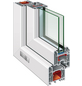 RORO Fenster »B70/5K«, Kunststoff, weiß, Glasstärke 24mm-Thumbnail