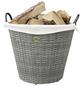 HABAU Feuerholzkorb, Grau | Beige, Rund, Durchmesser: 54 cm-Thumbnail