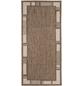 ANDIAMO Flachgewebe-Teppich »Louisiana«, BxL: 60 x 110 cm, braunbeige-Thumbnail