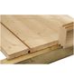WOLFF Fußboden für Gartenhäuser, BxHxt: 330 x 1,8 x 330 cm, Fichtenholz-Thumbnail