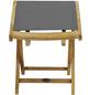 Fußhocker, BxHxT: 47 x 47 x 42 cm, Akazienholz-Thumbnail