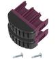 KRAUSE Fußstopfen, BxHxT: 6,15 x 5,4 x 2 cm, Kunststoff, schwarz/violett-Thumbnail