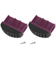KRAUSE Fußstopfen, BxHxT: 7,15 x 5,5 x 2 cm, Kunststoff, schwarz/violett-Thumbnail