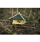 DOBAR Futterhaus, für Wildvögel, Kiefernholz/Kunststoff/Bitumen, natur/grün-Thumbnail