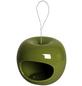 LUXUS-VOGELHAUS Futterspender, für Wildvögel, keramik/Edelstahl, rot/grün/blau-Thumbnail