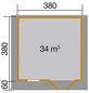 WEKA Gartenhaus »136 Gr.2«, B x T: 460 x 450 cm, Satteldach, inkl. Fußboden-Thumbnail
