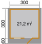 WEKA Gartenhaus »139 A Gr.2«, B x T: 380 x 370 cm, Satteldach, inkl. Fußboden-Thumbnail