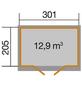WEKA Gartenhaus »218 Gr. 2 wekaLine«, B x T: 320 x 235 cm, Satteldach, inkl. Fußboden-Thumbnail
