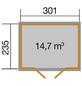 WEKA Gartenhaus »218 Gr. 3 wekaLine«, B x T: 320 x 265 cm, Satteldach, inkl. Fußboden-Thumbnail