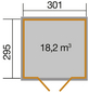 WEKA Gartenhaus »218 Gr. 4 wekaLine«, B x T: 319 x 334 cm, Satteldach, inkl. Fußboden-Thumbnail