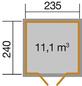 WEKA Gartenhaus »218 Gr.1«, B x T: 260 x 277 cm-Thumbnail
