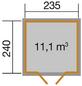 WEKA Gartenhaus »219 Gr. 1wekaLine«, B x T: 260 x 277 cm, Flachdach, inkl. Fußboden-Thumbnail