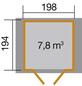 WEKA Gartenhaus »316 Gr.2«, B x T: 240 x 217 cm, Satteldach-Thumbnail