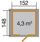WEKA Gartenhaus »317 Gr.2«, B x T: 191 x 171 cm, Satteldach-Thumbnail