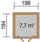 WEKA Gartenhaus, B x T: 222 x 237 cm, Flachdach-Thumbnail