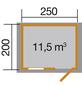 WEKA Gartenhaus, B x T: 300 x 230 cm, Satteldach, inkl. Fußboden-Thumbnail