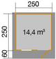 WEKA Gartenhaus, B x T: 300 x 320 cm, Satteldach, inkl. Fußboden-Thumbnail