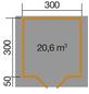 WEKA Gartenhaus, B x T: 333 x 360 cm, Satteldach-Thumbnail