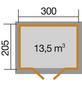 WEKA Gartenhaus, B x T: 380 x 244 cm, Satteldach, inkl. Fußboden-Thumbnail
