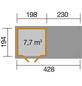 WEKA Gartenhaus, B x T: 452 x 237 cm, Flachdach-Thumbnail