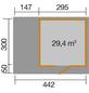WEKA Gartenhaus, B x T: 489 x 377 cm, Flachdach-Thumbnail