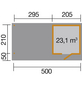 WEKA Gartenhaus, B x T: 634 x 377 cm, Flachdach-Thumbnail