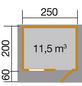 WEKA Gartenhaus »«, BxT: 300 x 270 cm, Satteldach-Thumbnail
