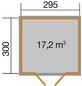WEKA Gartenhaus BxT: 319cm x 334cm-Thumbnail