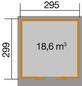 WEKA Gartenhaus BxT: 319cm x 336cm-Thumbnail
