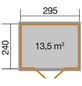 WEKA Gartenhaus BxT: 320cm x 278cm-Thumbnail