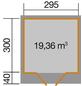 WEKA Gartenhaus BxT: 356cm x 375cm-Thumbnail