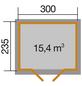 WEKA Gartenhaus BxT: 380cm x 274cm-Thumbnail