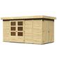 WOODFEELING Gartenhaus, BxT: 404 x 238 cm (Aufstellmaße), Flachdach-Thumbnail
