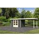 WOODFEELING Gartenhaus, BxT: 591.5 x 238 cm (Aufstellmaße), Flachdach-Thumbnail