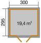WEKA Gartenhaus »Casa«, B x T: 380 x 320 cm, Satteldach, inkl. Fußboden-Thumbnail