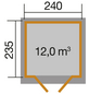 WEKA Gartenhaus »Casa Gr. 1«, BxT: 274 x 285 cm (Aufstellmaße), Satteldach-Thumbnail