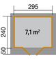 WEKA Gartenhaus »Designhaus 126 Gr.2«, BxT: 356 x 314 cm, Flachdach-Thumbnail