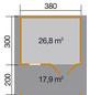WEKA Gartenhaus »Gartenhaus 111 B Gr.2«, BxT: 460 x 510 cm, Satteldach-Thumbnail