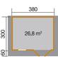 WEKA Gartenhaus »Gartenhaus 111 Gr.2«, BxT: 460 x 370 cm, Satteldach-Thumbnail