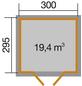WEKA Gartenhaus »Gartenhaus 122 Gr.5«, BxT: 380 x 320 cm, Satteldach-Thumbnail