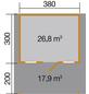 WEKA Gartenhaus »Gartenhaus 136 A Gr.1«, BxT: 460 x 510 cm, Satteldach-Thumbnail
