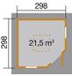 WEKA Gartenhaus »Gartenhaus 149 5-Eck «, BxT: 380 x 380 cm, Zeltdach-Thumbnail