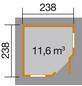 WEKA Gartenhaus »Gartenhaus 149 5-Eck Gr.1«, BxT: 318 x 318 cm, Zeltdach-Thumbnail