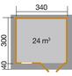 WEKA Gartenhaus »Gartenhaus 163 Gr.2«, BxT: 410 x 380 cm (Aufstellmaße), Satteldach-Thumbnail