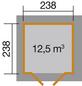 WEKA Gartenhaus »Gartenhaus 177 4-Eck Gr.1«, BxT: 318 x 318 cm, Zeltdach-Thumbnail