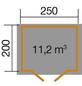 WEKA Gartenhaus »Gartenhaus 209 Gr.1,5«, BxT: 288 x 230 cm (Aufstellmaße), Satteldach-Thumbnail